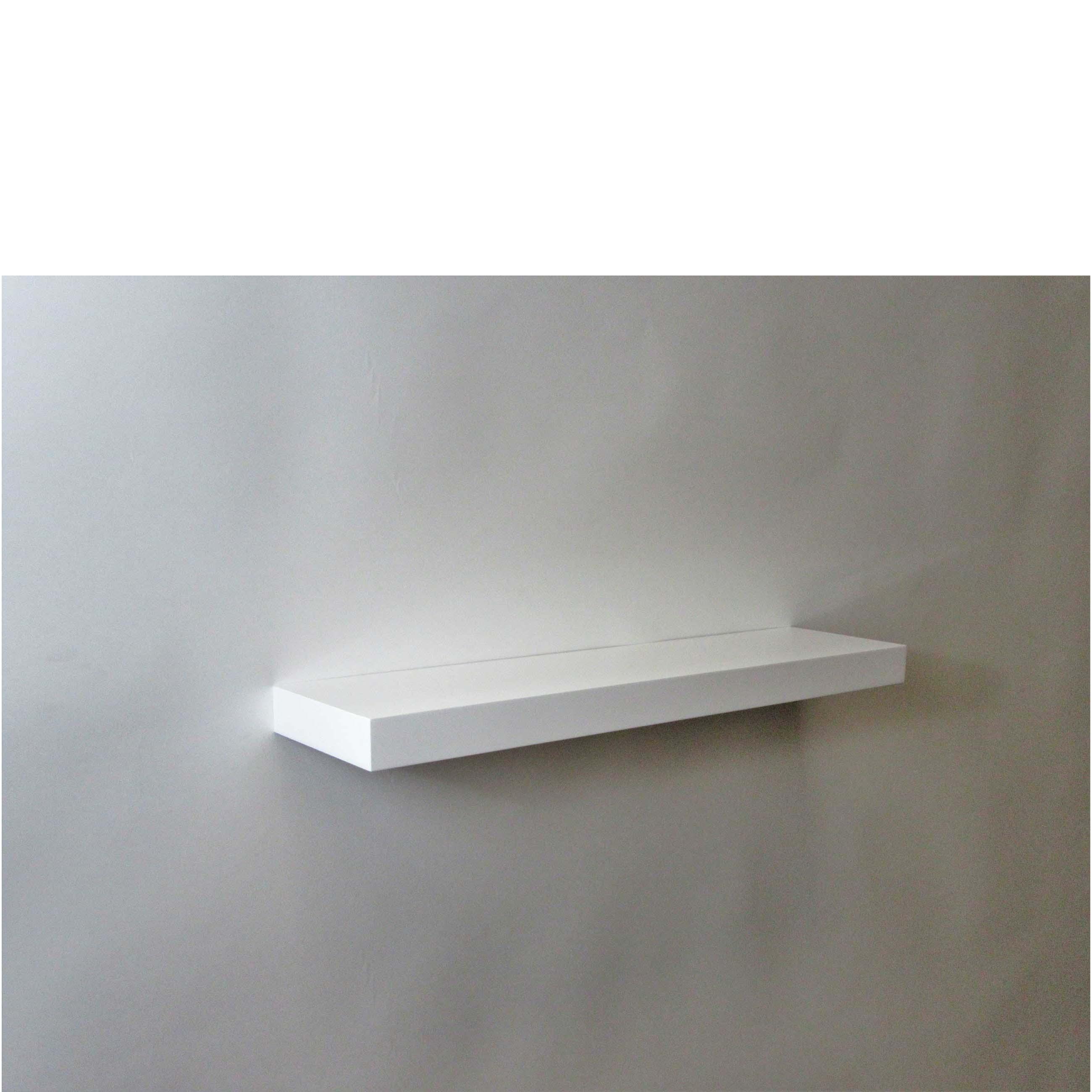 gloss white floating shelf 600x150x38mm mastershelf. Black Bedroom Furniture Sets. Home Design Ideas