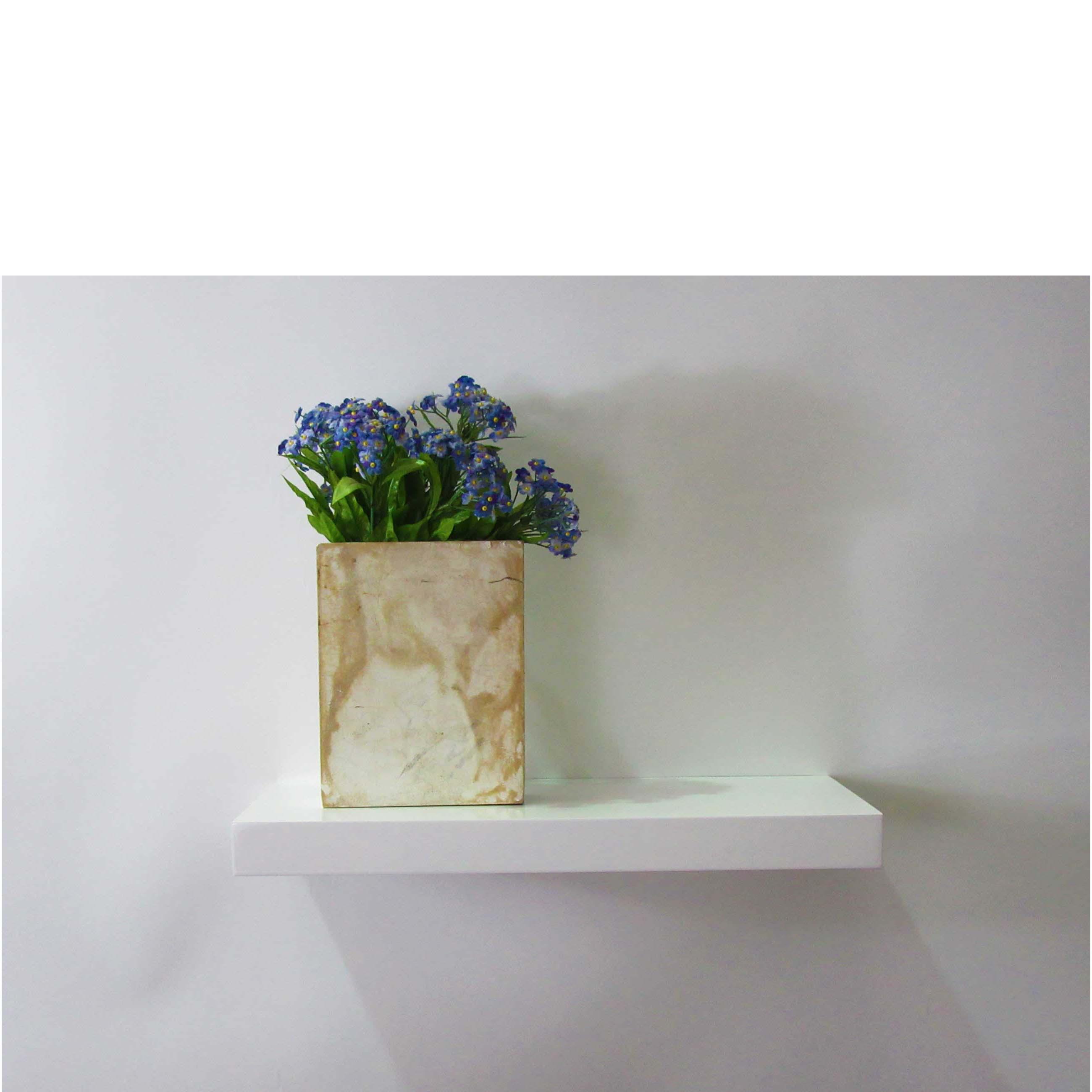 Gloss White Floating Shelf 450x200x38mm