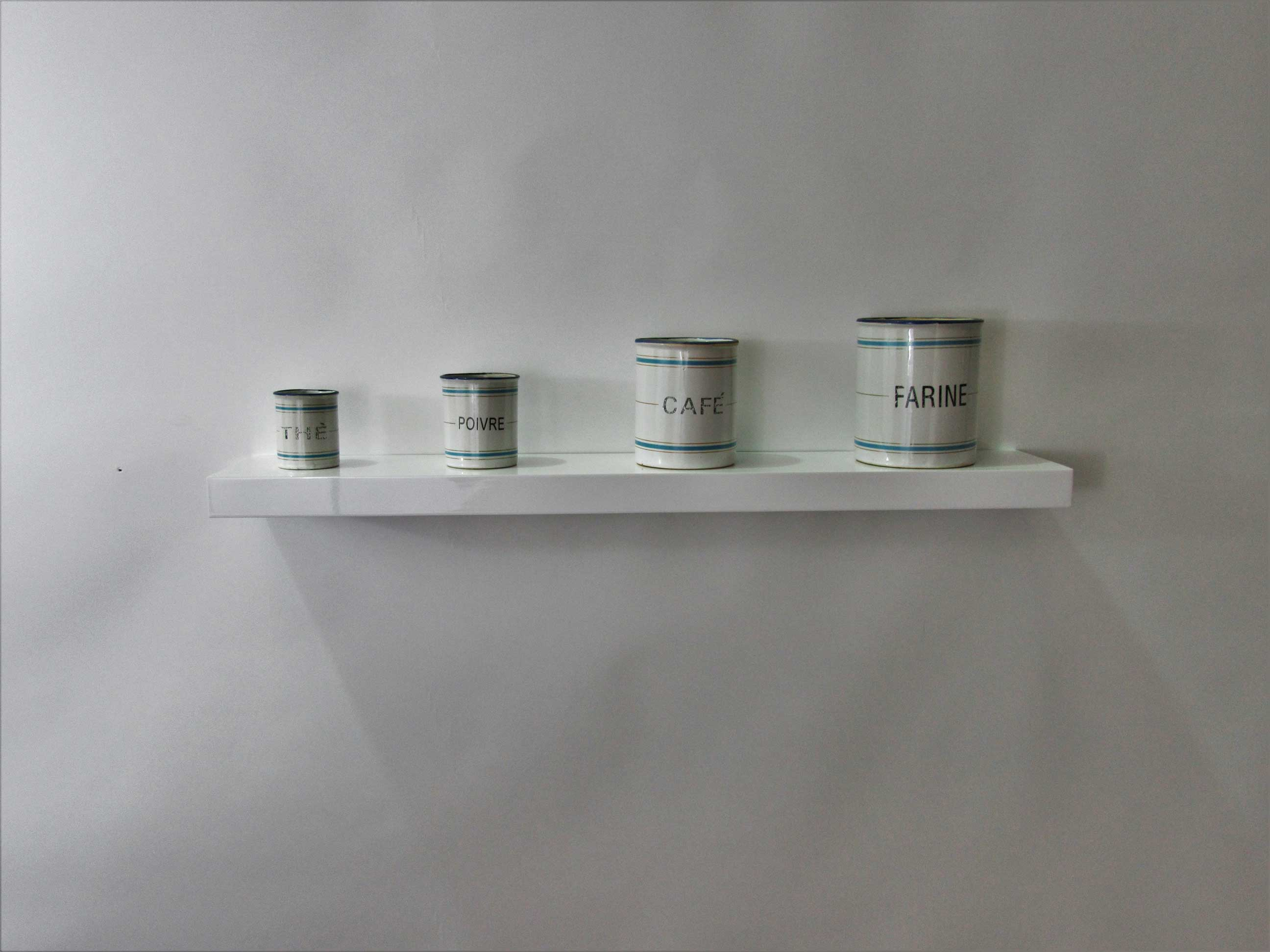 gloss white floating shelf 450x150x38mm mastershelf. Black Bedroom Furniture Sets. Home Design Ideas