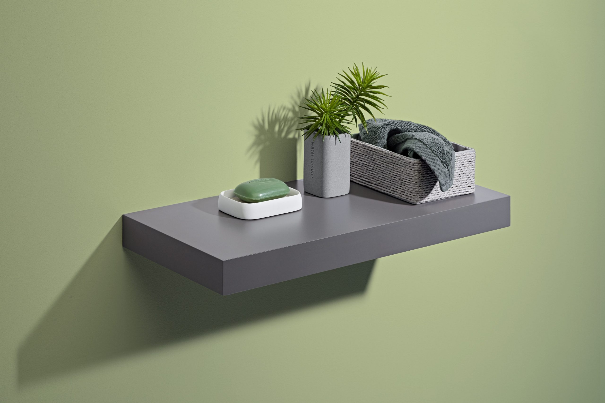 dark grey floating shelf kit 1150x250x50mm