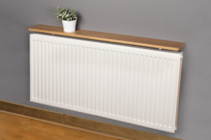 Oak radiator shelf