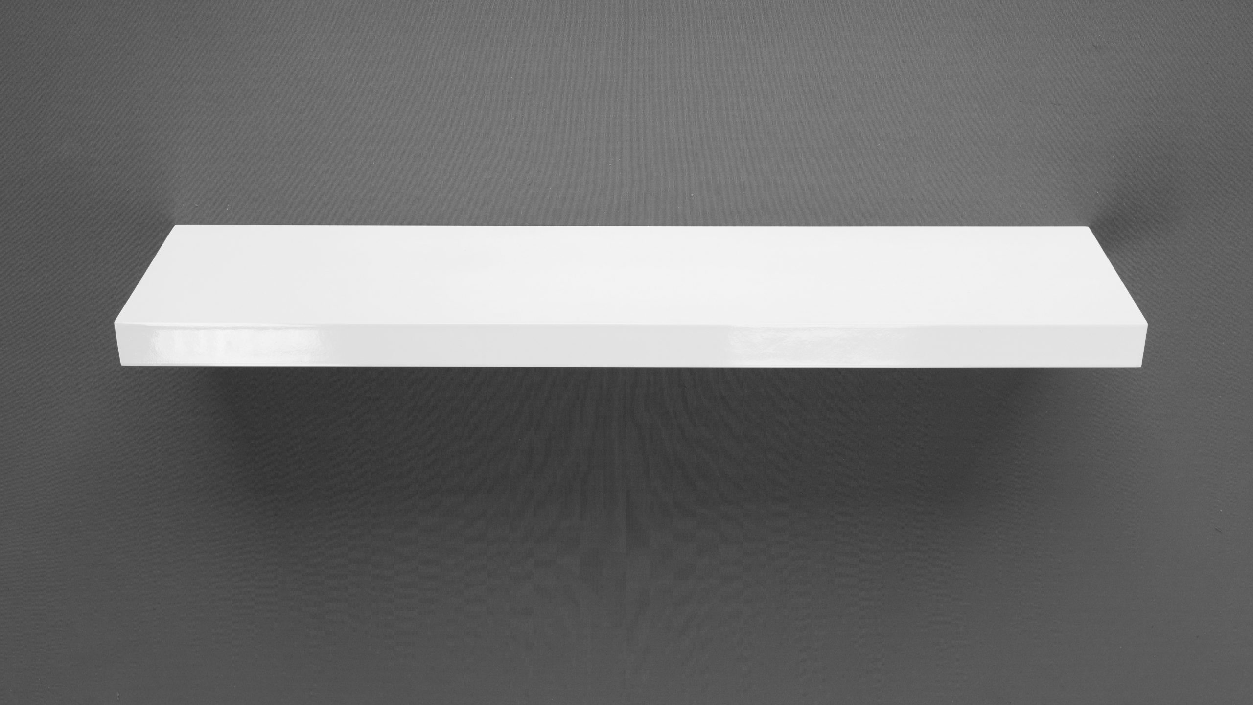 Gloss White Floating Shelf 1200x200x38mm Mastershelf