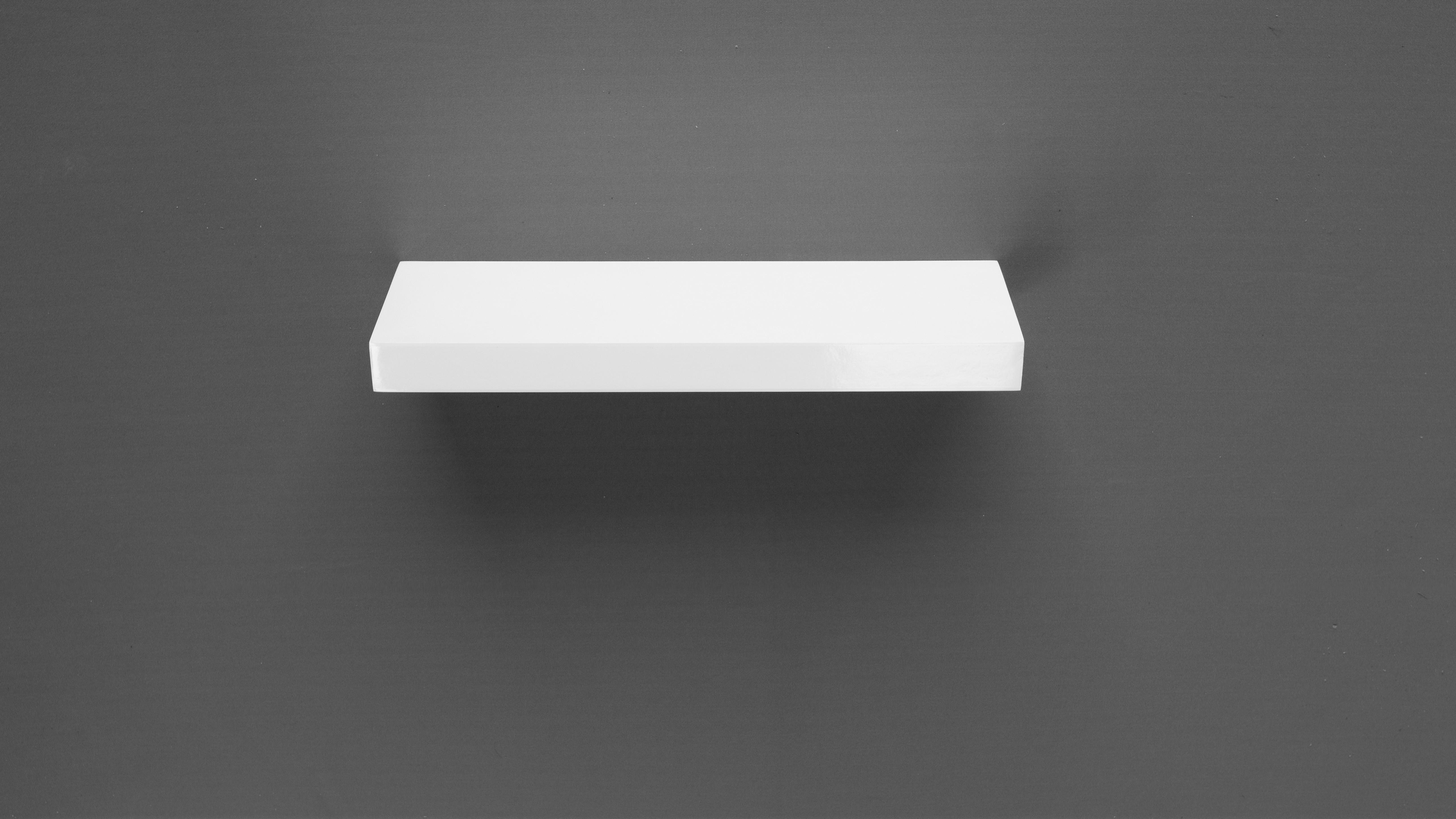 Gloss White Floating Shelf 450x150x38mm Mastershelf