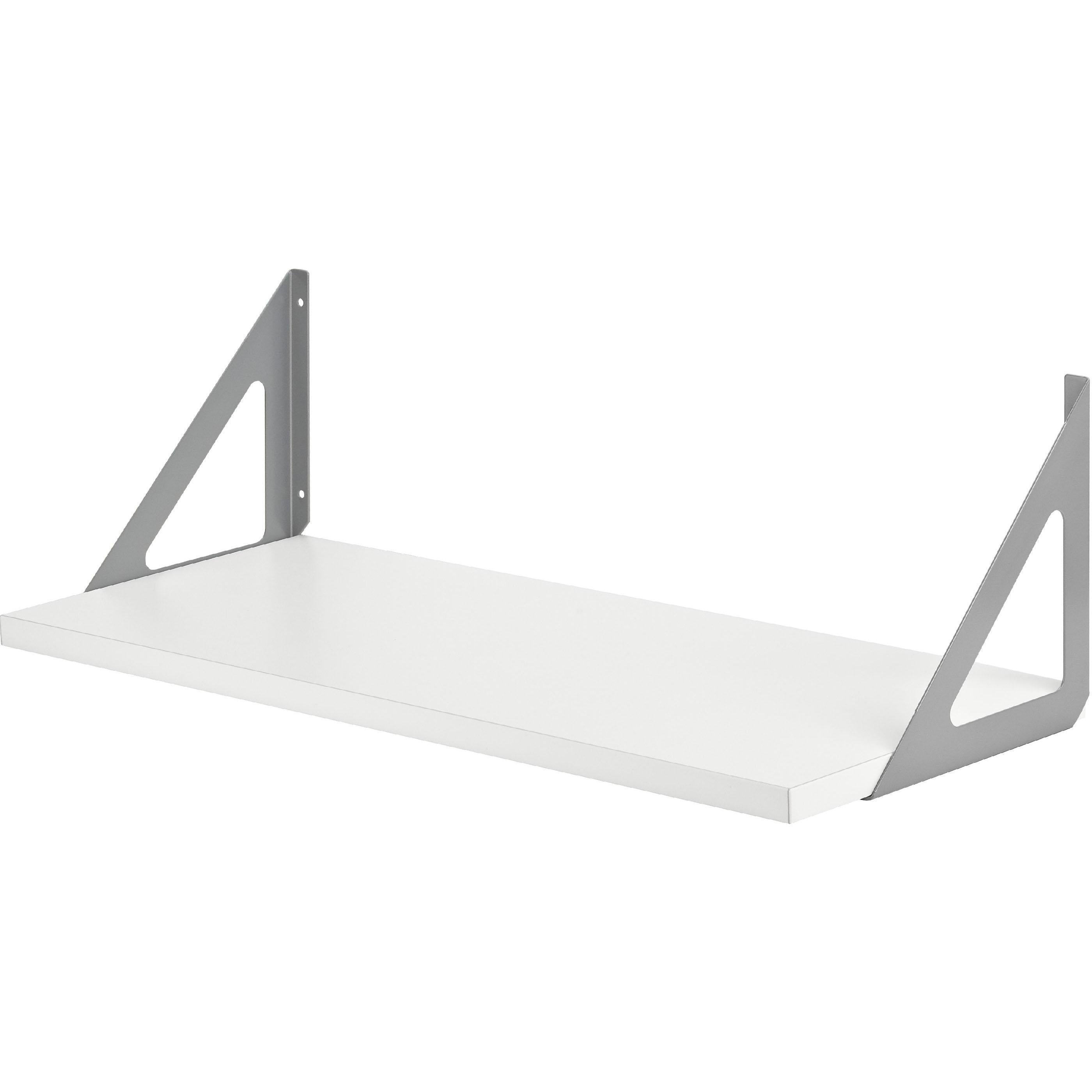 White Laminate Bookshelf 800x250x19mm
