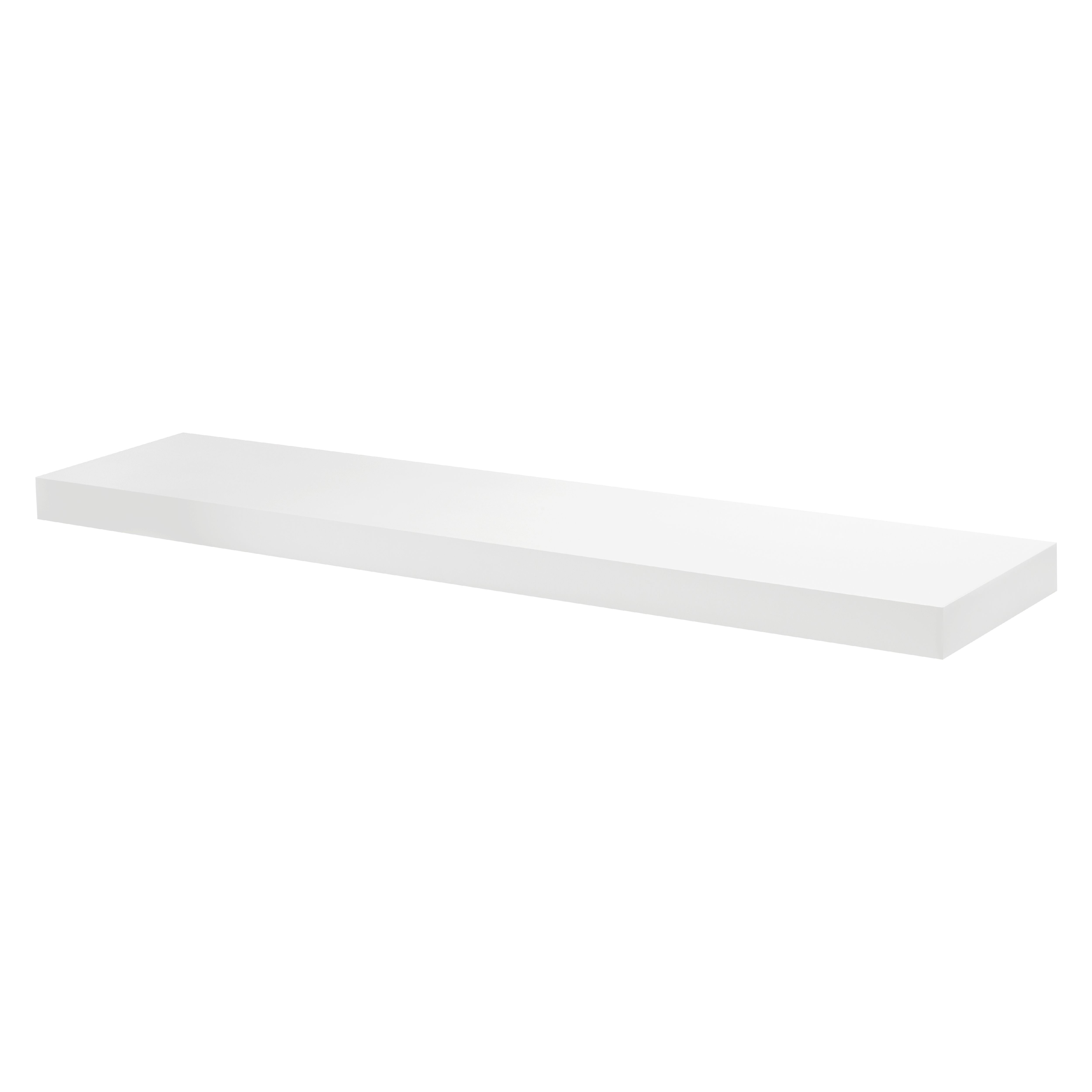Surprising Large White Floating Shelf Kit 1500X300X50Mm Download Free Architecture Designs Remcamadebymaigaardcom