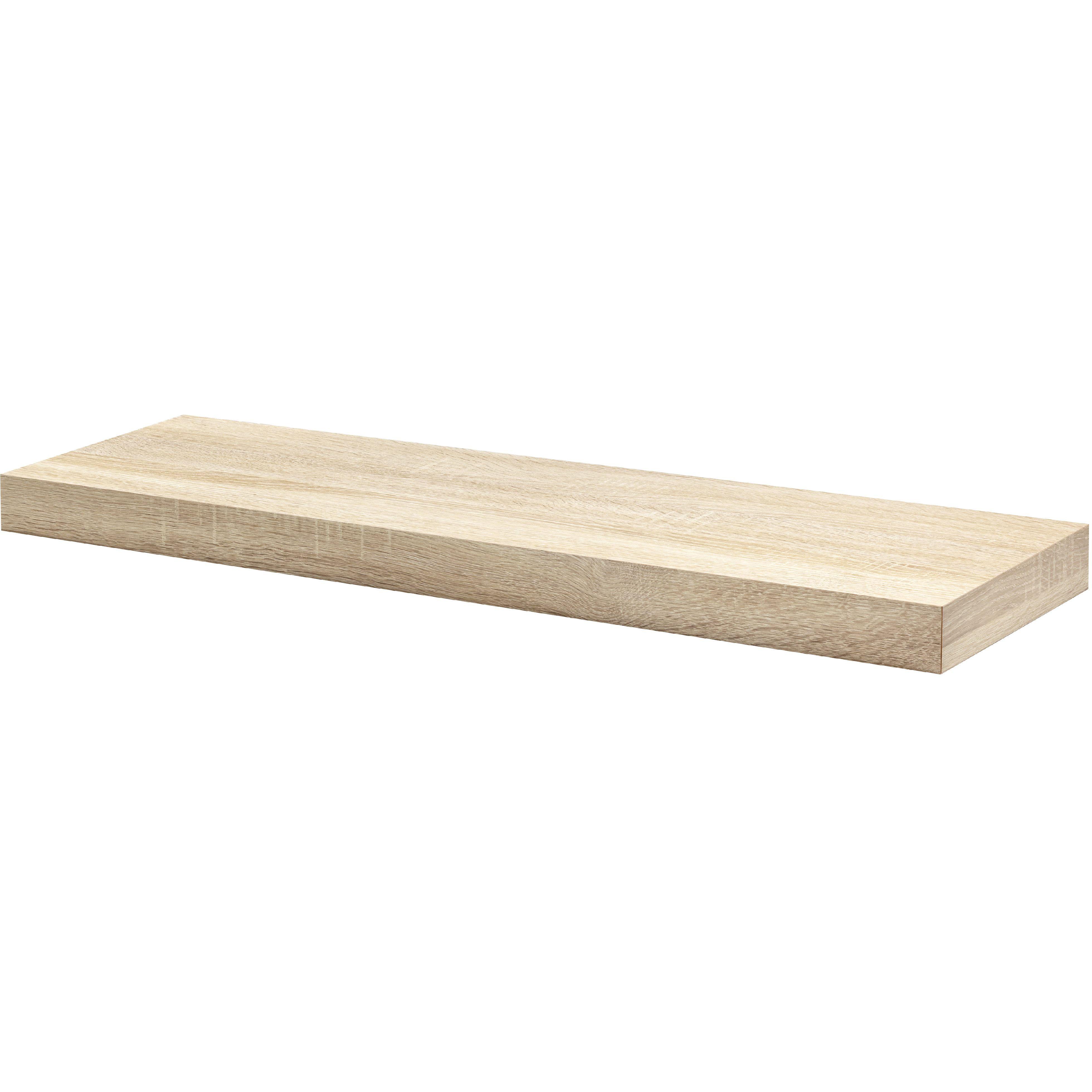 Oak Floating Shelf Kit 900x250x50mm - Mastershelf