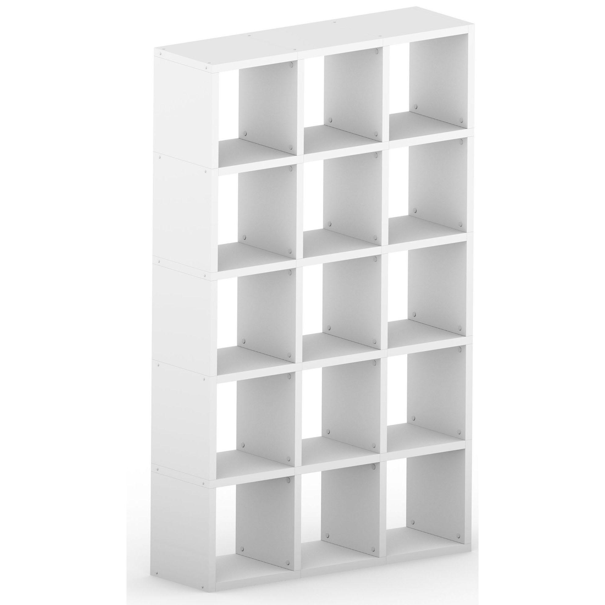 White Modular Cube 5x3 Vertical 1096l X 1808h X 328d