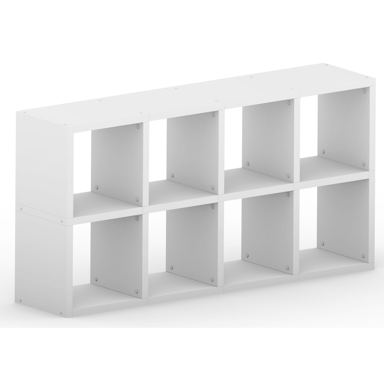 new styles af03c 26438 Modular 8 Cube White , 1452L x 740H x 328D