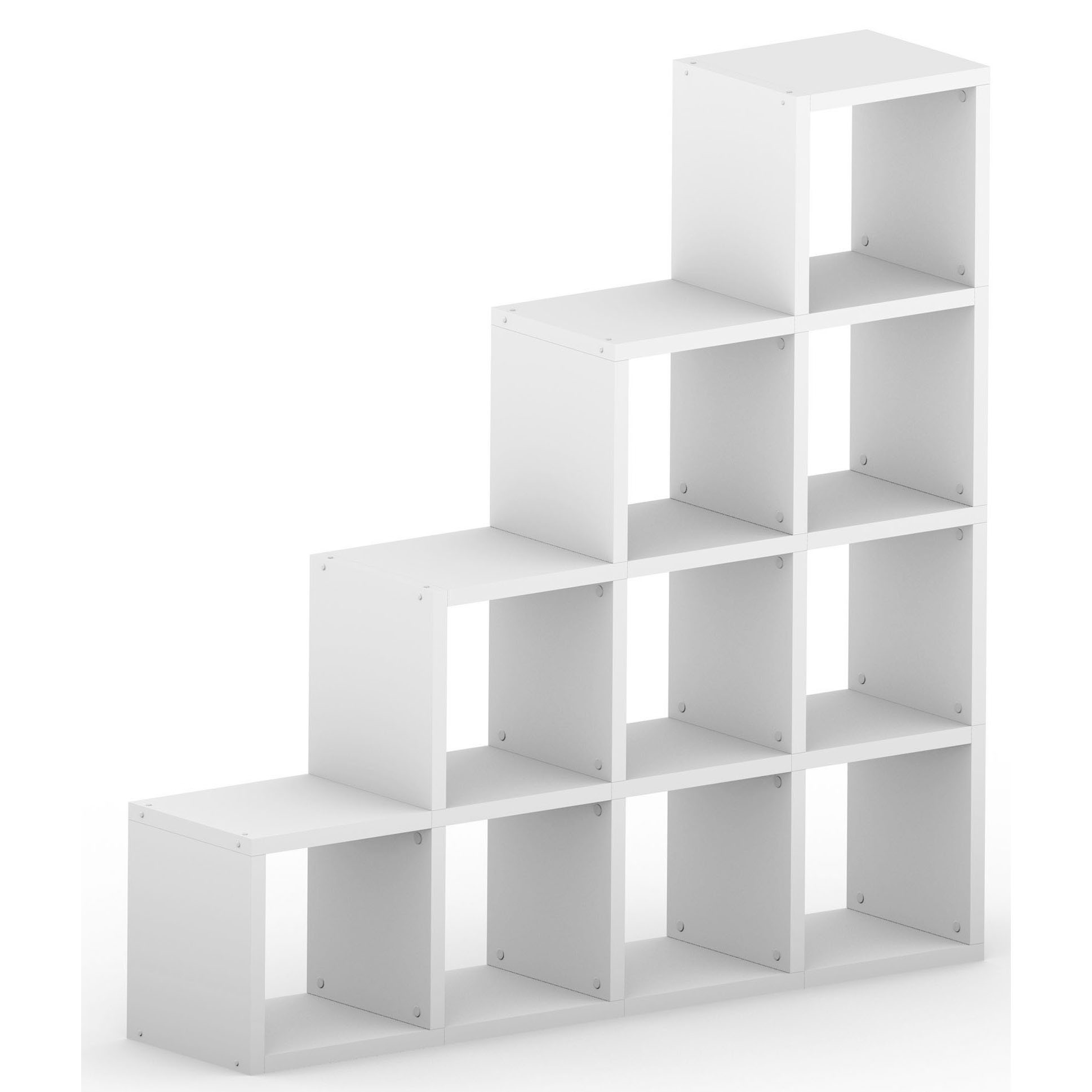 White Modular 4 Step 1452l X 1452h X 328d Mastershelf