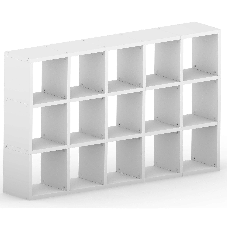 White Modular 3x5 Cube 1808l X 1116h X 328d Mastershelf