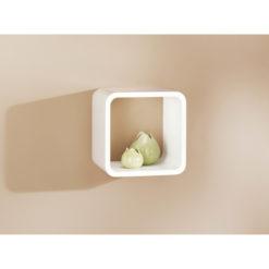 White cube shelf