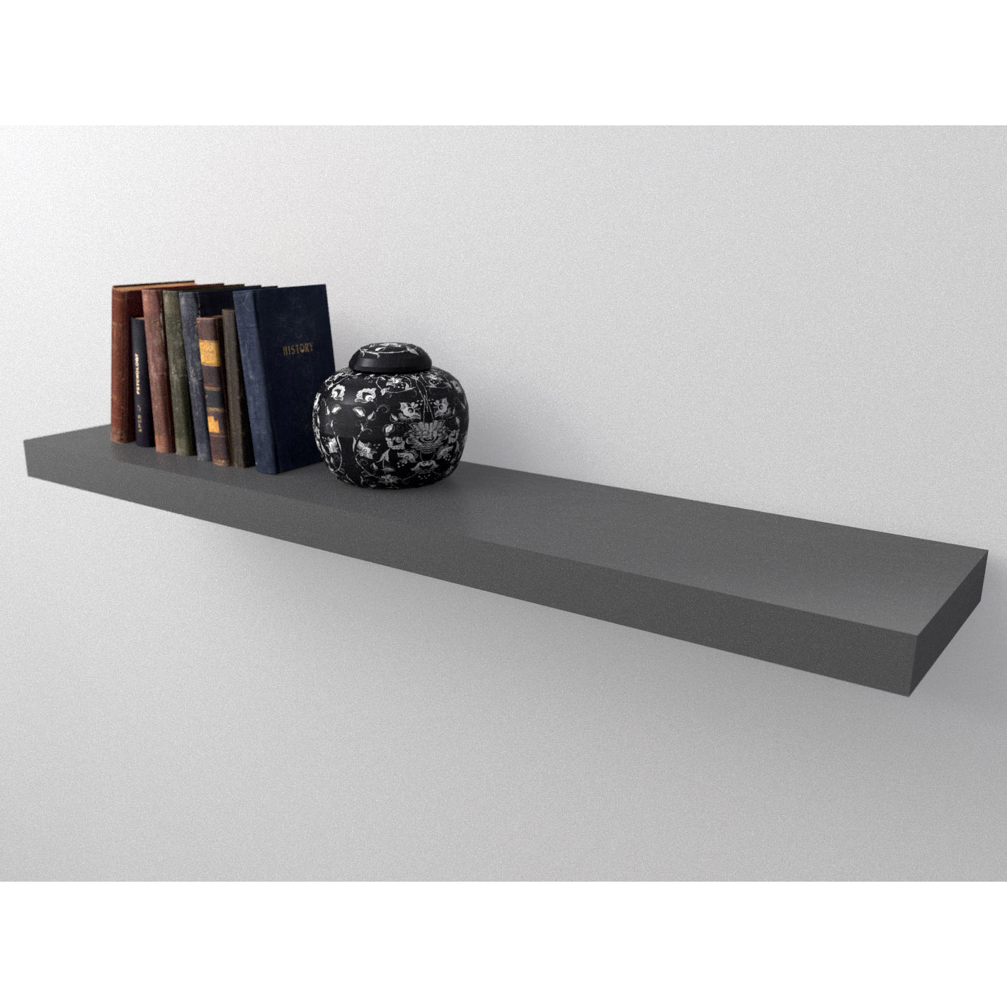 Dark Grey Floating Shelf Kit 1150x250x50mm Mastershelf
