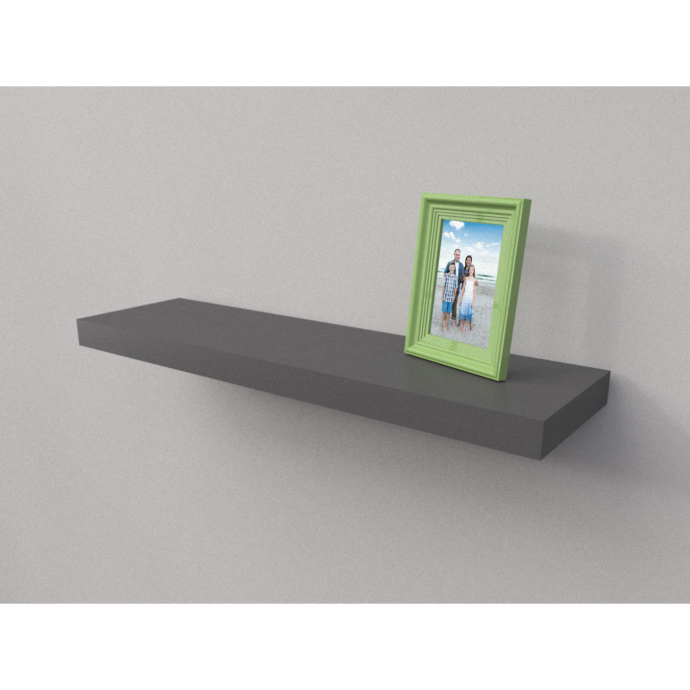Dark Grey Floating Shelf Kit 900x250x50mm Mastershelf