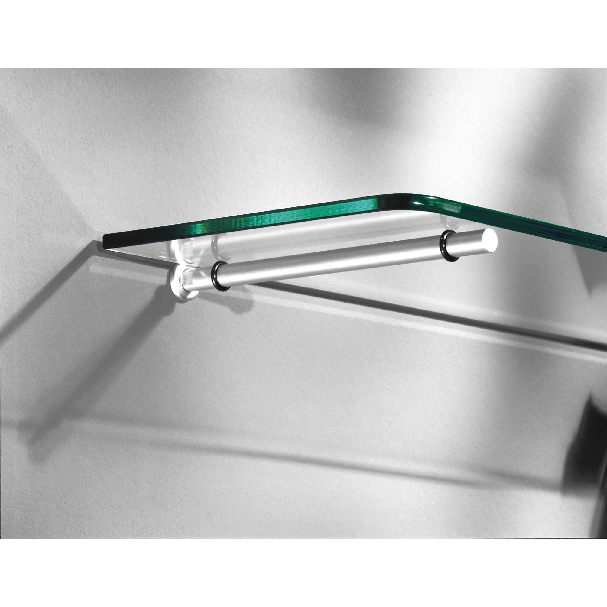 Floating Glass Bracket 200mm Pair Mastershelf