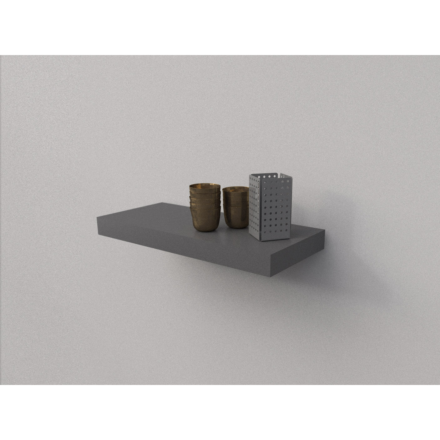 Dark Grey Floating Shelf Kit 570x250x50mm Mastershelf