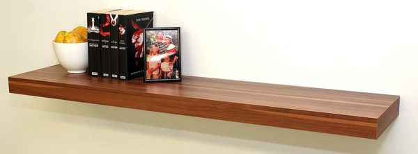 Walnut floating shelf 1150x250x50mm