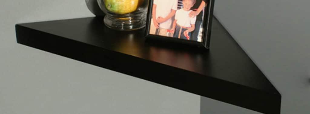 Black corner shelf