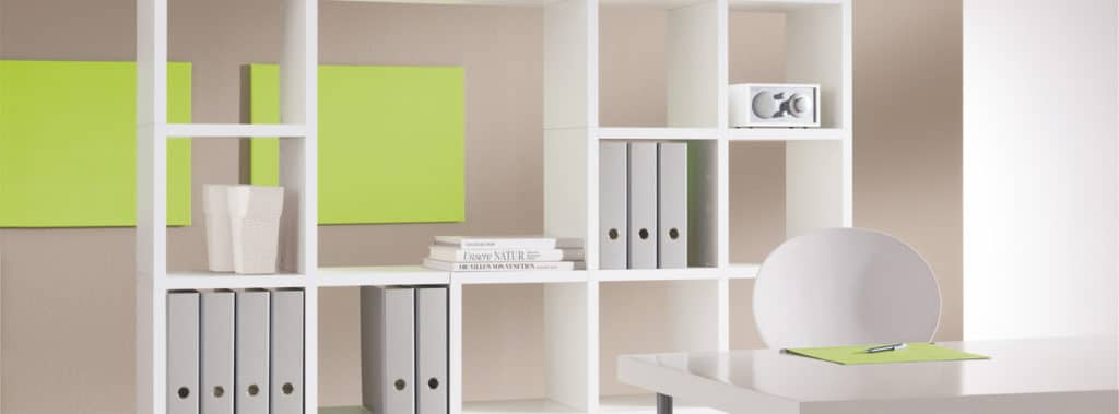 Mixed size white modular shelf