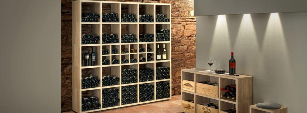 Oak cube shelves