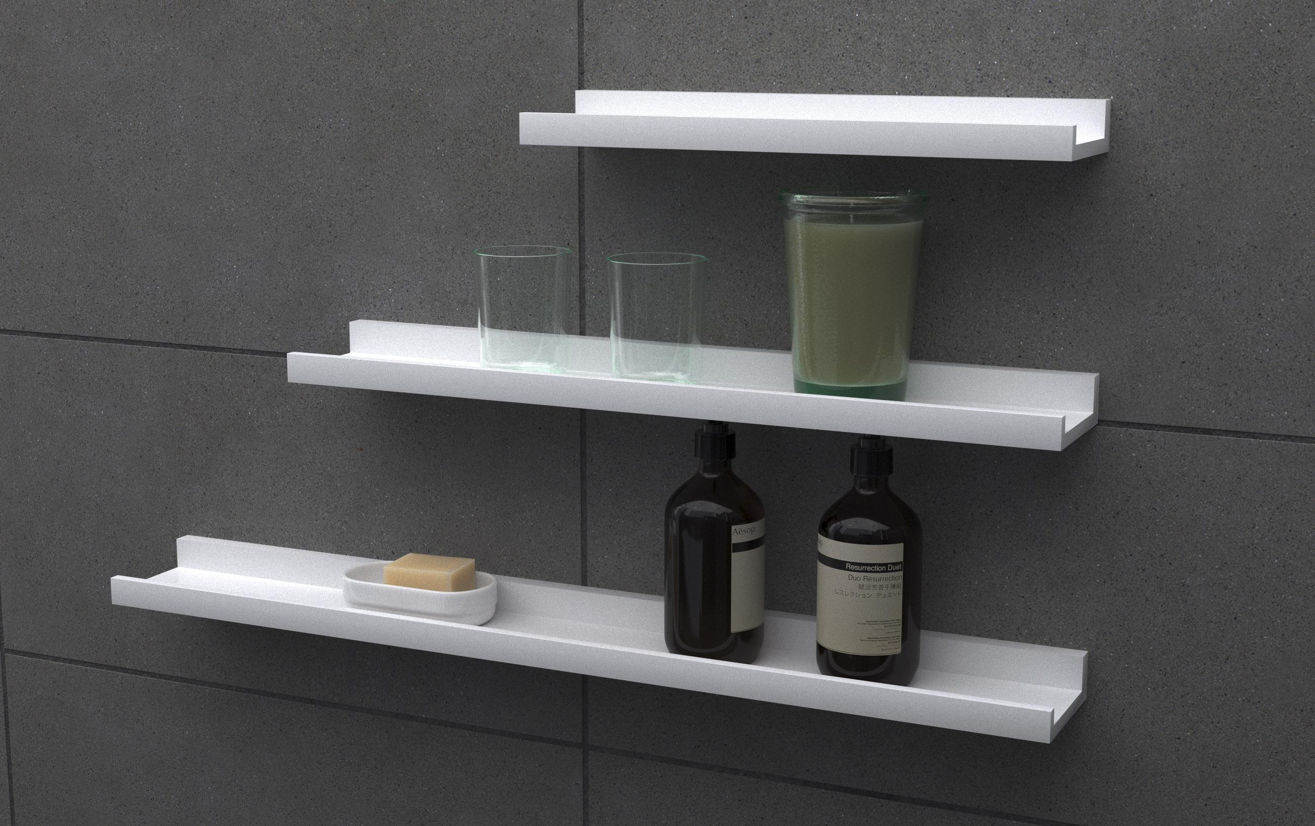 Belle Ledge Shelves 3 Sizes Triple Deal Mastershelf