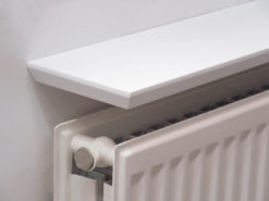 White Beveled Radiator Shelf 35x6x 1 Inch Thick 900x150x25mm